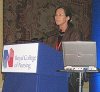 Susan Oliver presenting at an RCN conference